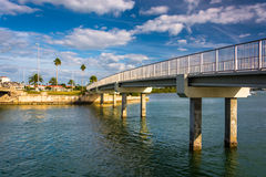 Pedestrian bridge over the Intracoastal Waterway in Clearwater B Stock Images