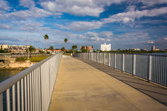 Pedestrian bridge over the Intracoastal Waterway in Clearwater B Stock Photography