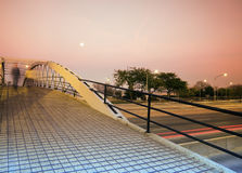Pedestrian Bridge over Lake Shore Drive Royalty Free Stock Images
