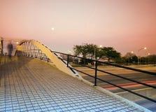 Pedestrian Bridge over Lake Shore Drive Royalty Free Stock Images