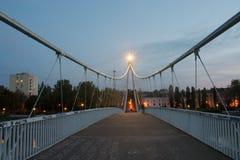 Pedestrian bridge over river Royalty Free Stock Image
