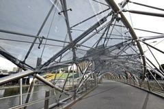 Pedestrian Bridge over Singapore River Stock Photo