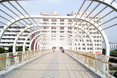 Pedestrian bridge Royalty Free Stock Image