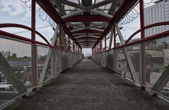 Pedestrian bridge Royalty Free Stock Images
