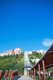 Pedestrian bridge, Potenza, Italy Stock Photos