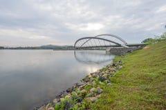 Pedestrian Bridge, Putrajaya. Dam, Putrajaya Malaysia Royalty Free Stock Image