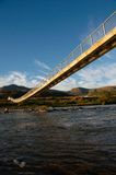 Pedestrian Bridge in rural South Africa. Over river where there are no roads Stock Images