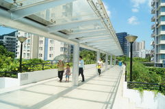 The pedestrian bridge, in Shenzhen Stock Image