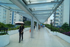 The pedestrian bridge, in Shenzhen Royalty Free Stock Images