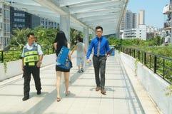 The pedestrian bridge, in Shenzhen Stock Image