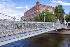 Pedestrian bridge in St. Petersburg, Russia Stock Photography