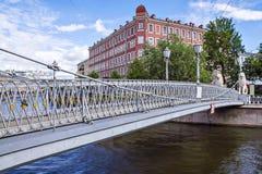 Pedestrian bridge in St. Petersburg, Russia Stock Photography
