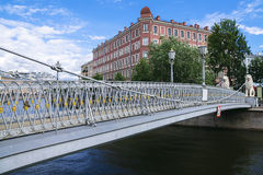 Pedestrian bridge in St. Petersburg, Russia Royalty Free Stock Photos