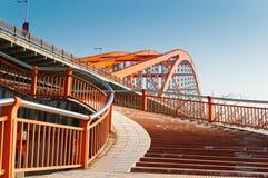 Pedestrian bridge stairs Royalty Free Stock Image