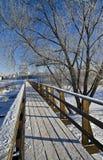 Pedestrian bridge in Suzdal, Russia. Royalty Free Stock Photos