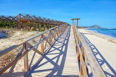 Pedestrian Bridge to Playa de Muro Beach