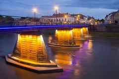 Pedestrian bridge, Uzhgorod, Ukraine Stock Image