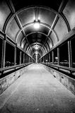 Pedestrian bridge in Waterloo, Iowa Royalty Free Stock Photo