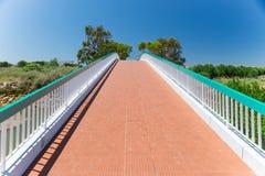 Pedestrian bridge in Wolf Valley (Vale do Lobo), Algarve, Portug Stock Photos
