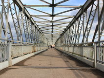 Pedestrian bridge in Yelets. Royalty Free Stock Photo