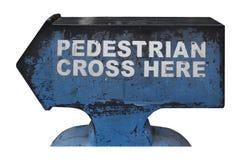 Pedestrian cross here Stock Photo