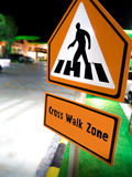 Pedestrian Cross Walk Sign Royalty Free Stock Image