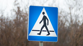 Pedestrian cross walk street sign Royalty Free Stock Photo