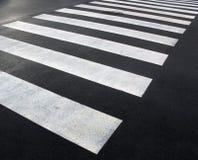Pedestrian crossing. Clean freshly painted pedestrian crossing stock images