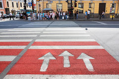 Pedestrian crossing Stock Photo