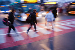 At the pedestrian crossing Royalty Free Stock Photography