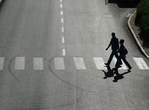 Pedestrian crossing. Crosswalk Stock Images