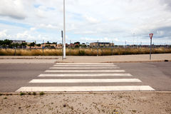 Pedestrian crossing in abandoned housing estate building site, Valencia region, Spain Stock Images