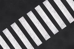 Pedestrian crossing, asphalt road top view royalty free stock photo
