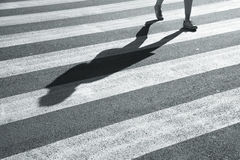 Pedestrian crossing city road Royalty Free Stock Image