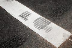 Pedestrian crossing fragment Stock Photo