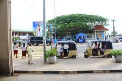 Pedestrian crossing, Galle, Sri Lanka Stock Photo