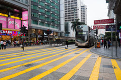 Pedestrian crossing in Hong Kong Royalty Free Stock Photography