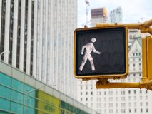 Pedestrian Crossing icon sign road. USA Stock Photos