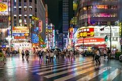 Pedestrian crossing at Kabukicho Ichibangai in Shinjuku Royalty Free Stock Image