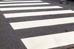 Pedestrian crossing marked. With white paint Royalty Free Stock Photography