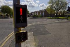 Pedestrian Crossing, Moreton, Wirral, England. A pedestrian crossing in Moreton, Wirral, England Stock Photos