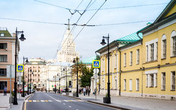 Pedestrian crossing on Myasnitskaya street in Moscow Stock Photos