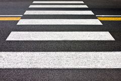 Pedestrian crossing with no people Stock Image