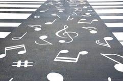 Pedestrian crossing and notes Stock Photos