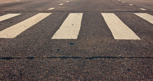 Pedestrian Crossing On Road At Day Royalty Free Stock Images