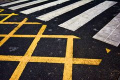 french pedestrian crossing royalty free stock photo