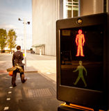 Pedestrian crossing: red light Stock Photos