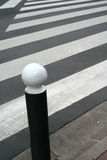 Pedestrian crossing on the road Stock Photography