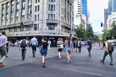 Pedestrian Crossing Road Diagonal Crosswalk Royalty Free Stock Image