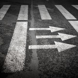 Pedestrian crossing with road marking Royalty Free Stock Images